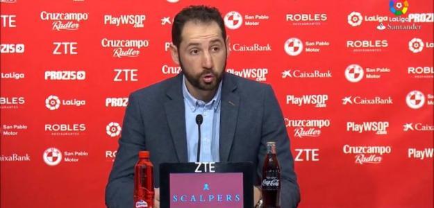 Pablo machín, entrenador del Sevilla. Foto: Laliga.es