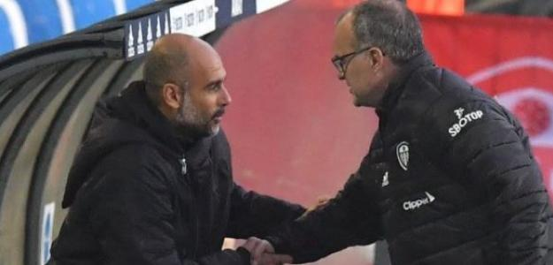 """El Manchester City quiere arrebatarle un jugador al Leeds United de Bielsa """"Foto: TyC Sports"""""""