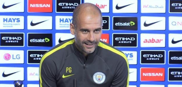Pep Guardiola en rueda de prensa. Foto: Youtube.com