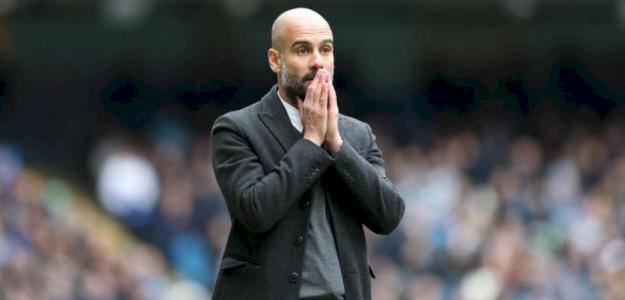 Guardiola, durante un partido (Manchester City)