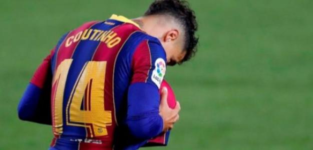 """Coutinho estará más tiempo de baja y peligra su posible venta en verano """"Foto: Record"""""""