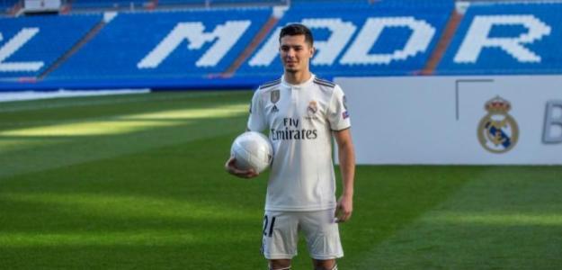 Brahim en su presentación / Real Madrid