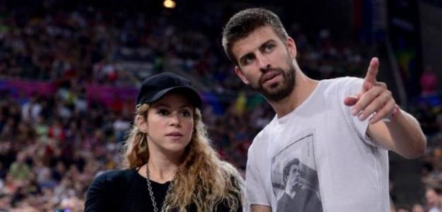 Piqué junto a Shakira. / diariogol.com