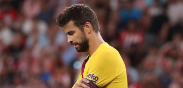 Piqué se mostró visiblemente molesto por la derrota. Foto: MD