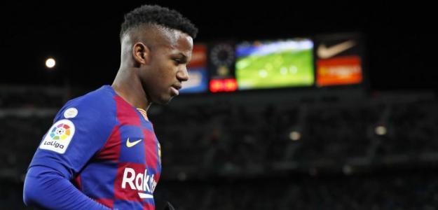 Preocupación máxima por la rodilla de Ansu Fati / FCBarcelona.es