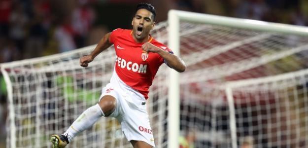 Radamel Falcao celebra un gol con el Mónaco / Youtube.
