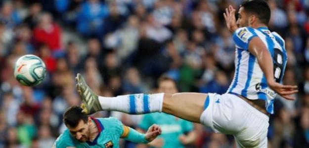 Polémica arbitral entre Barça y Real Sociedad. Foto: EFE