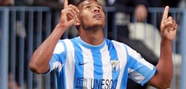 Salomón Rondón celebra un gol en La Rosaleda/lainformacion.com/Agencia EFE