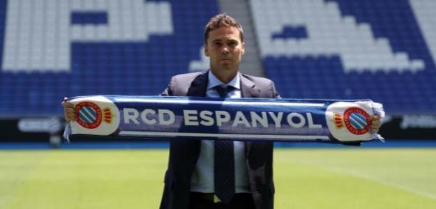 Rubi, en su presentación con el Espanyol / twitter.