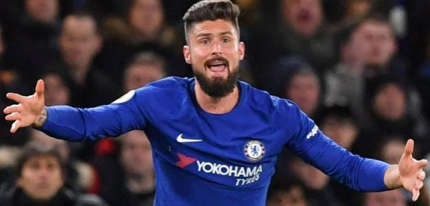 Olivier Giroud, en un partido del Chelsea / Sky Sports.