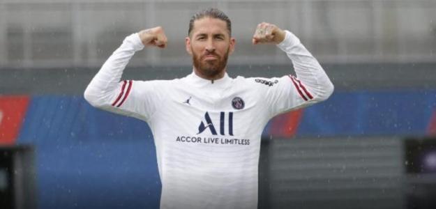 """El debut de Sergio Ramos con el PSG, al caer """"Foto: FutbolRecord"""""""