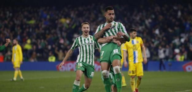 Sergio León celebra el gol anotado ante el Espanyol en Copa del Rey / Real Betis B.