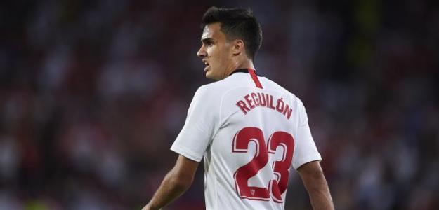 El PSG toca la puerta de Sergio Reguilón   FOTO: SEVILLA
