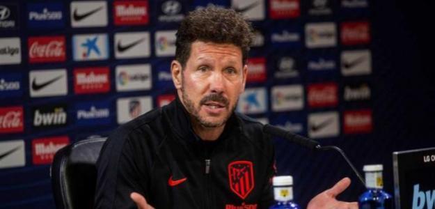 Simeone en una rueda de prensa. / rtve.es