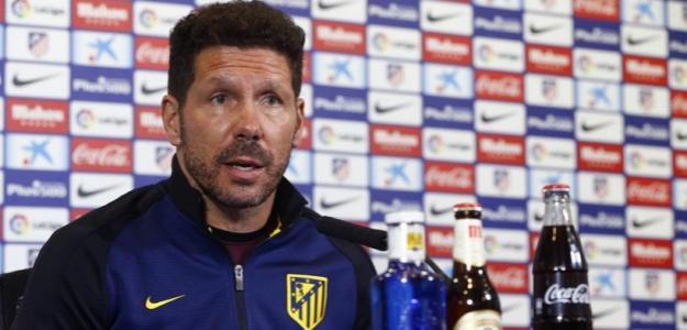 Simeone, en sala de prensa (Atlético de Madrid)