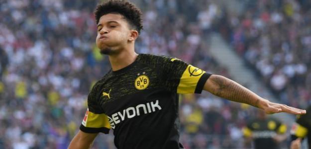Jadon Sancho celebra un gol con el Borussia Dortmund / SKY SPORT