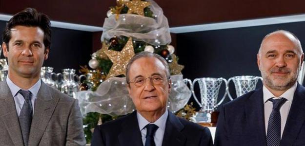 Solari, Florentino y Laso (Real Madrid)