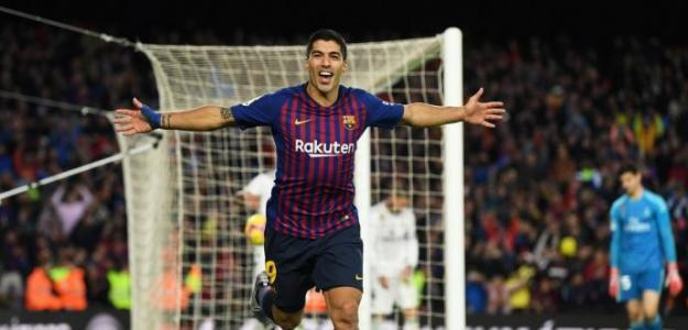 Luis Suárez celebra un gol con el FC Barcelona / twitter.