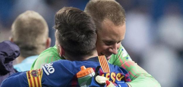 Ter Stegen y Messi, entre los intocables.