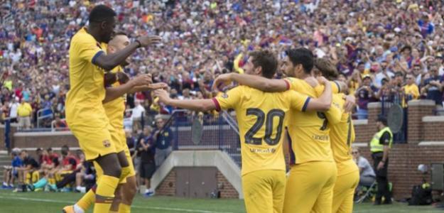 El Barça carbura en su último test veraniego. Foto: Sport