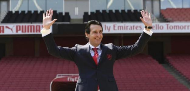 Unai Emery durante su presentación como entrenador del Arsenal. Foto: Arsenal.com