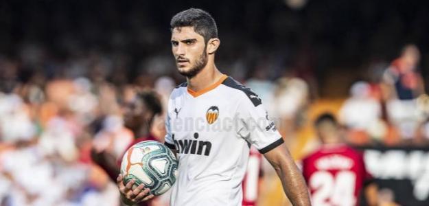 Guedes en un partido con el Valencia. / valenciacf.com