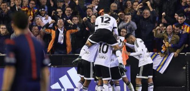 Jugadores del Valencia celebran un gol / Foto: Valencia