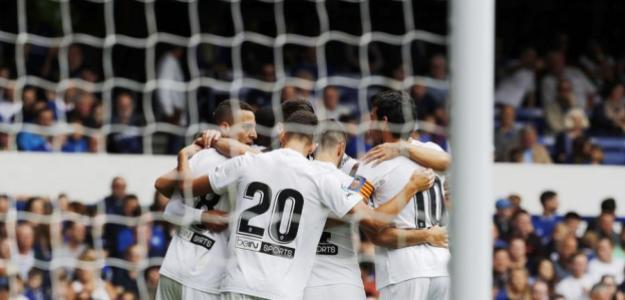 Jugadores del Valencia celebran un gol / twitter.