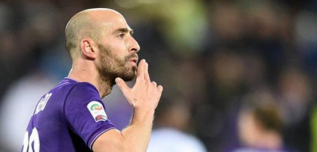 Borja Valero celebra un gol con la Fiorentina / Youtube