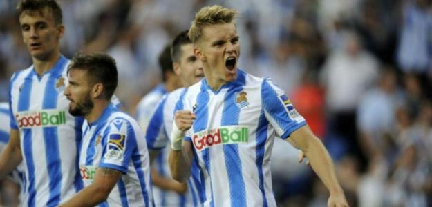 Ødegaard celebrando un gol con la Real Sociedad. / depor.com