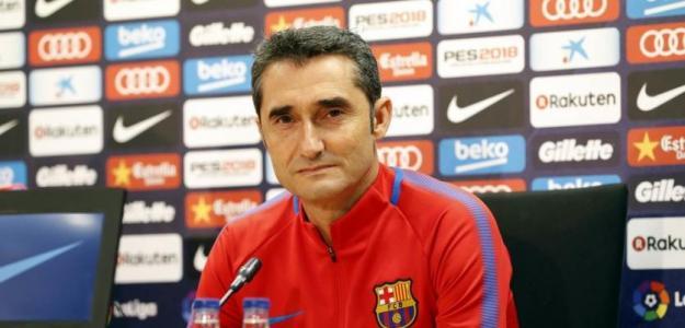 Ernesto Valverde, en rueda de prensa / twitter