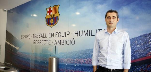 Valverde, el día de su fichaje (FC Barcelona)
