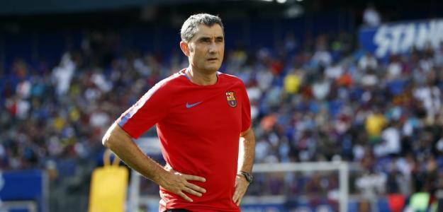 Valverde en un entrenamiento / Barcelona