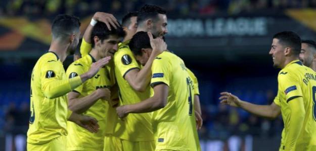 Jugadores del Villarreal durante un encuentro de la Europa League / LaLiga