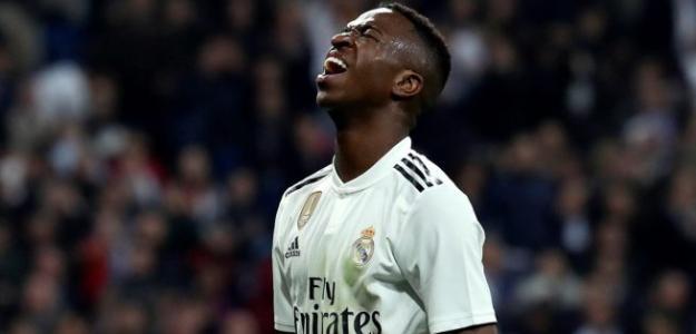 Vinícius se lamenta durante un partido (Real Madrid)