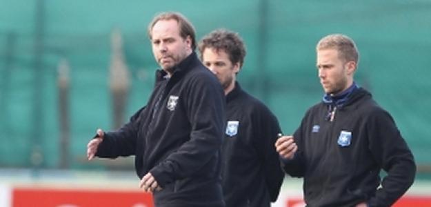 Jean-Guy Wallemme durante su primer entrenamiento con el Auxerre