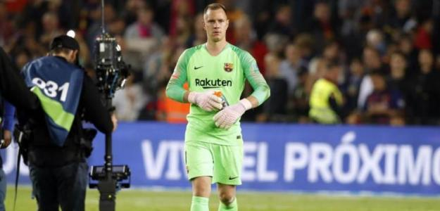 Ter Stegen, al término de un partido con el Barça (FC Barcelona)