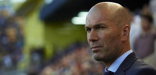 Zinedine Zidane, en partido con el Madrid / twitter