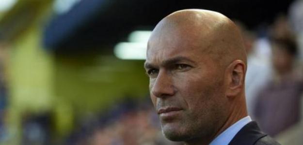 Zidane, en un partido del Real Madrid / twitter.