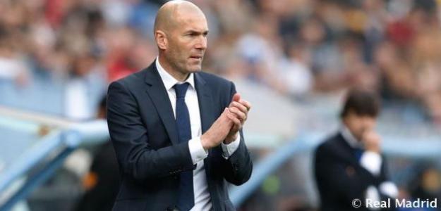 Zinedine Zidane, durante un encuentro de Liga. Foto: RealMadrid.com