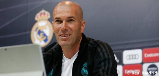 Zinedine Zidane en rueda de prensa. Foto: RealMadrid.com