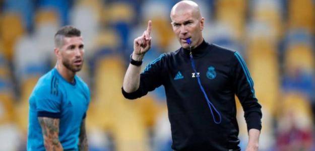 Zidane, en un entrenamiento / twitter