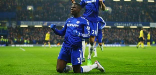 Kurt Zouma celebra un gol con el Chelsea / Youtube