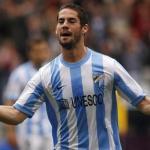 Isco Alarcón celebra un gol con el Málaga/ Lainformacion.com