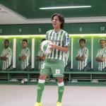 Láinez, el día de su llegada (Real Betis)