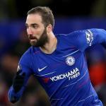 Gonzalo Higuaín en un partido con el Chelsea / Chelsea