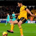 Raúl Jiménez, con el Wolverhampton (Wolves)