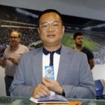 El presidente perico Chen Yansheng (RCD Espanyol)