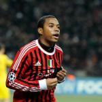 Robinho durante un partido de Liga de Campeones con el AC Milán
