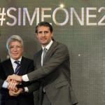 Simeone y Cerezo / Atlético
